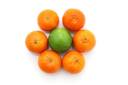 fruita, aliments, flor, cítrics, calç, Sa, equilibri