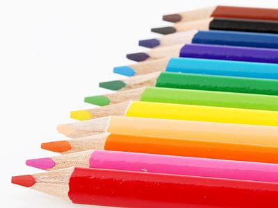 värvi, Joonista, maali, pliiatsid, Värv pliiatsid, Art, Rainbow värvi