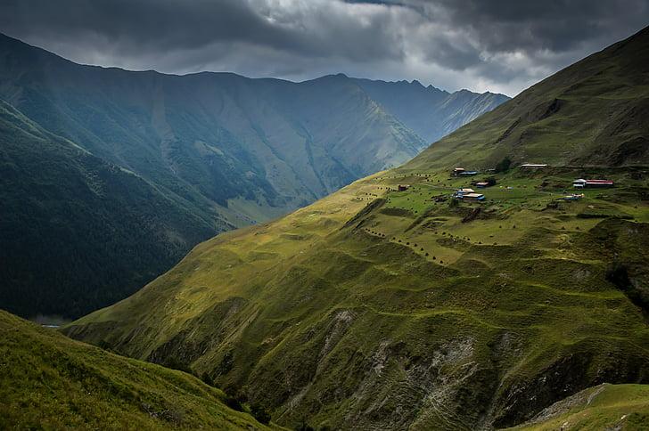 herbe, paysage, montagne, nature, à l'extérieur, Scenic, scenics