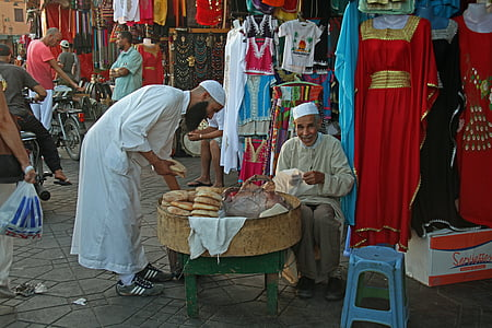 bread, marrakesh, food, morocco, traditional, typical, people