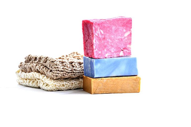 ręcznie robione, mydło, zimny proces, rzemiosło, naturalne, organiczne, różowy