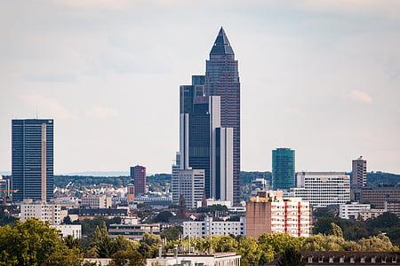 Frankfurt Maini ääres, Saksamaa, City, kõrghooneid, arhitektuur, hoone, panoraam, pilvelõhkuja