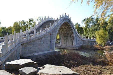 cung điện mùa hè, Trung Quốc, Bắc Kinh, Bridge - người đàn ông thực hiện cấu trúc, sông, kiến trúc, địa điểm nổi tiếng