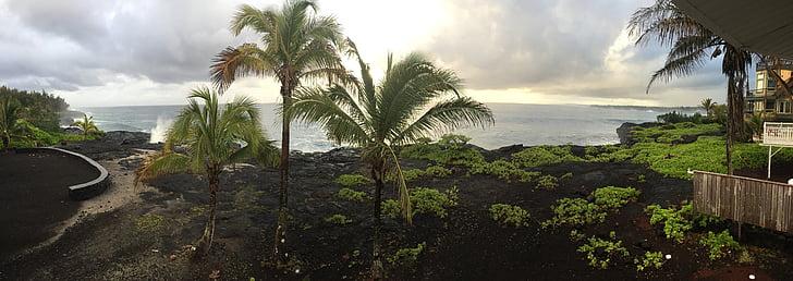 Hawaii, Big island, Vaade ookeanile, Island, Travel, vee, Havai
