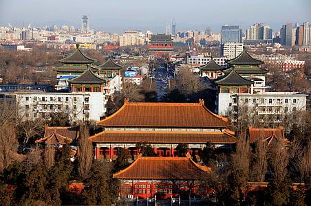 Pekina, Ķīna, ainava, siluets, Ķīna vējš