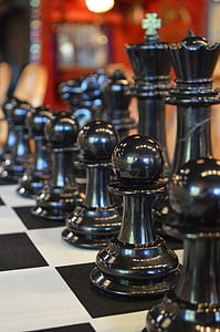 chess, chessboard, black, game, strategy, board, competition
