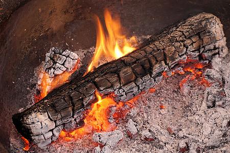 foc, flama, fusta, foc de fusta, foguera, calenta, marca