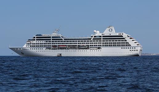 MS insignier, r-klass av kryssningsfartyg, excursionist – en person som tar, Cruiser, kryssningsfartyg, kryssning, havet