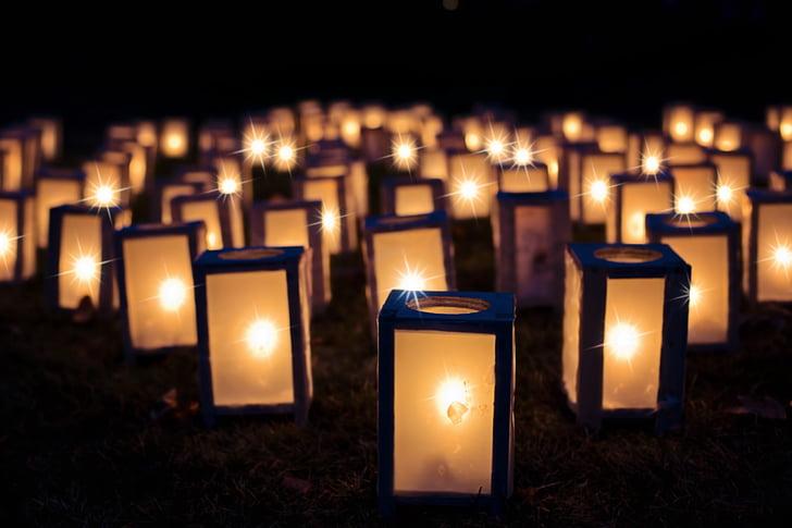 đèn chiếu sáng, Giáng sinh luminaries, đêm, tối, Trang trí, kỳ nghỉ, đèn lồng