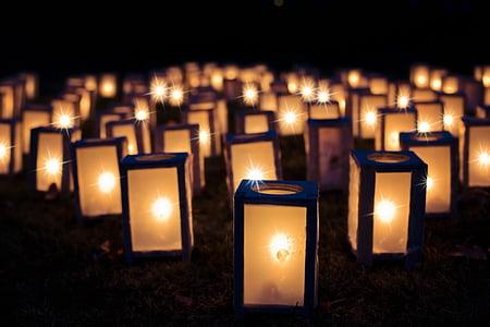 lys, Christmas skønånder, nat, mørk, dekoration, ferie, lanterne