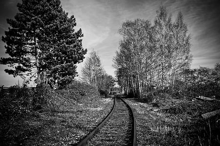 lost places, gleise, railway tracks, weathered, seemed, railway, old