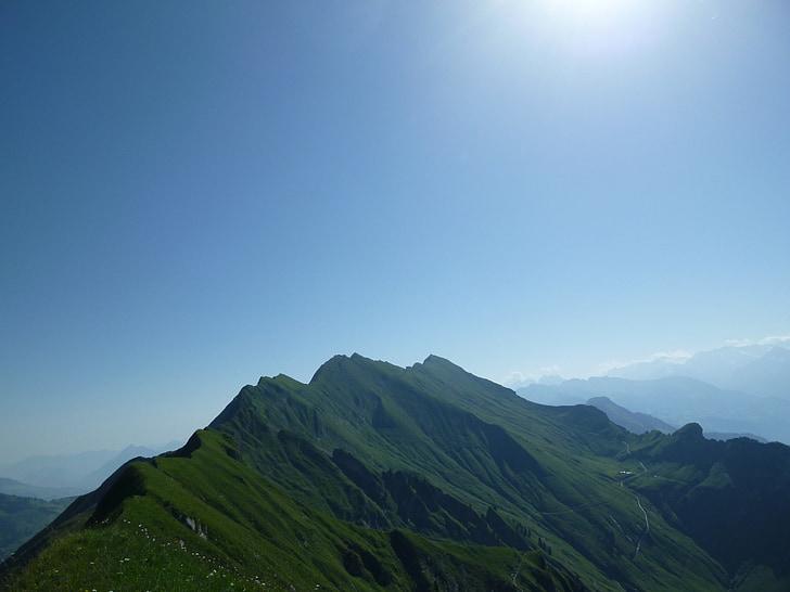 Brienz rothor, bergtour, l'estiu, alpí, panoràmica alpí