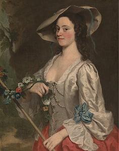 จอร์จ knapton, หญิง, ผู้หญิง, ศิลปะ, ภาพวาด, สีน้ำมันบนผ้าใบ, ศิลปะ