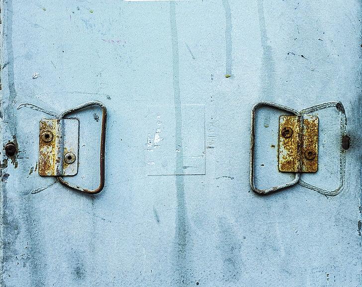 fons, textura, metall, òxid, grunge, textura de metall, Rusted