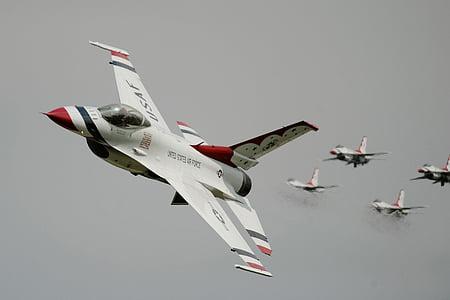 légi show, Thunderbirds, kialakulása, katonai, repülőgép, fúvókák, sík