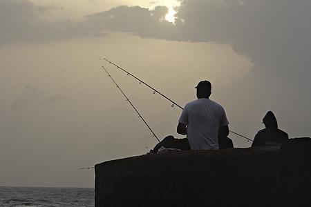 fishing, fishing rod, angler, equipment, angling, sport, recreation