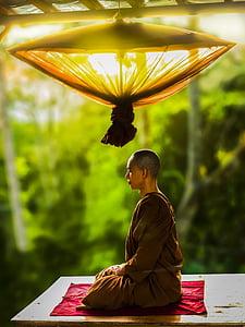 theravada budismi, munk, mõtiskledes, Meditatsioon, religioon, budism, Kultuur