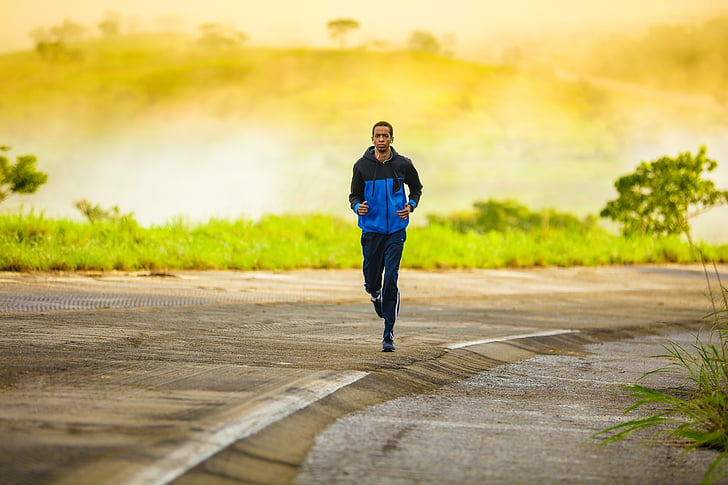 hombre, para correr, hombre corriente, ejercicio, saludable, ejecutar, activo