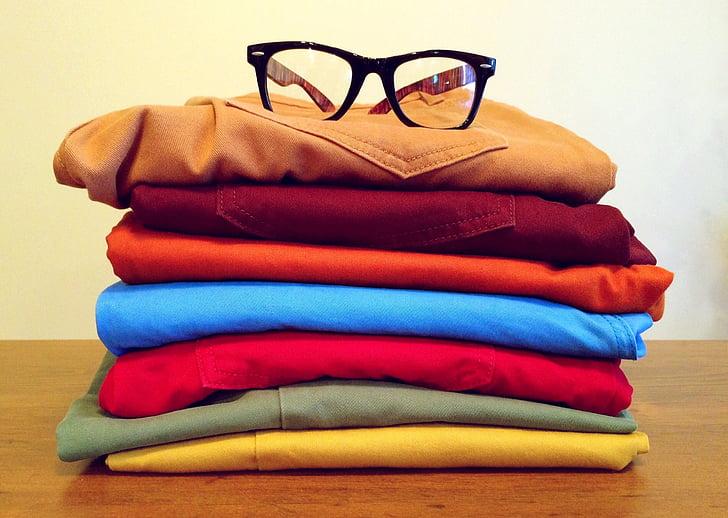 เสื้อผ้า, แฟชั่น, เครื่องแต่งกาย, สไตล์, มีสีสัน, เสื้อผ้า, แว่นตา