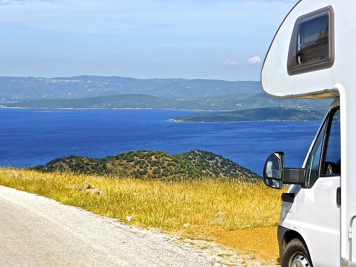 Xem, đường, phía trước, đi du lịch, quan điểm, Quốc gia, giao thông vận tải
