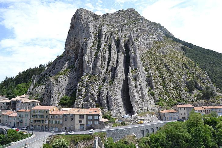 França, Provença, Sisteron, sud de França, Roca, rebuig, natura