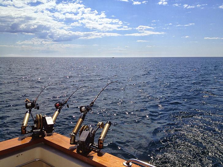 Rybolov, jazero, Michiganské jazero, vody, Príroda, Voľný čas, rybár