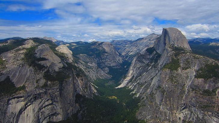 meitat de la cúpula, Yosemite, Parc Nacional de Yosemite, punt de glacera, Califòrnia