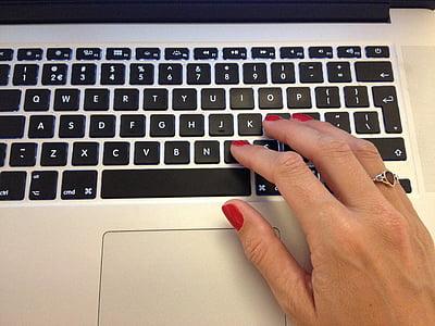 typing, laptop, computer