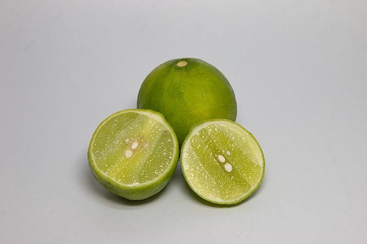 buah-buahan, hijau, lemon, segar, asam, buah, kesegaran