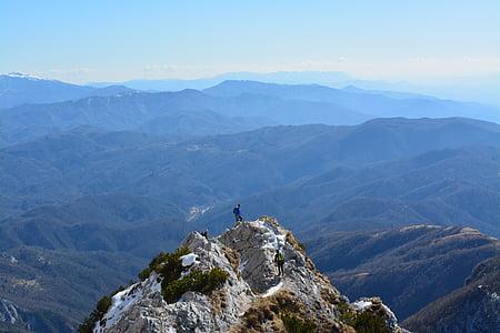 mountain, hikers, hiking, adventure, hike, nature, people