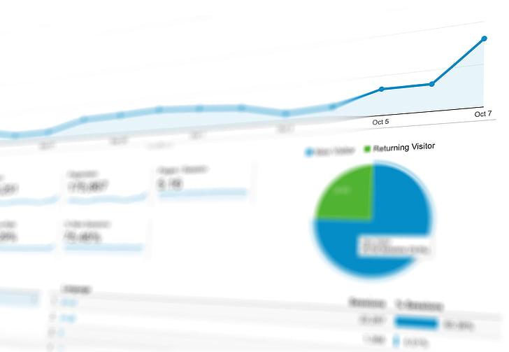 Analytics, diagrammi, andmed, graafik, turundus, esitlus, äri