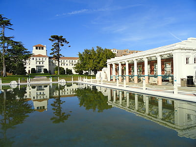 Monterey, Kalifornien, pool, byggnader, naturen, utanför, vatten