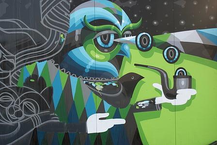 Hasselt, seni jalanan, mural, grafiti, dinding seni, lukisan, dinding