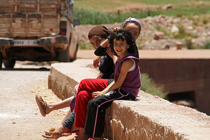 Marrakesz, dzieci, dziecko, Maroko, życie