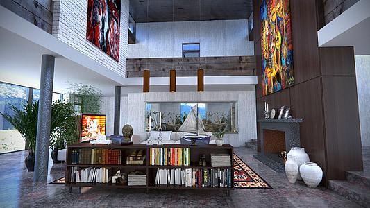 design, room, interior design, apartment, architecture, domestic Room, indoors