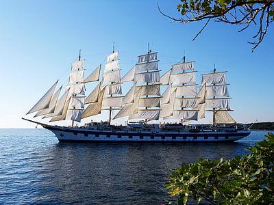 sejlads, skib, havet, nautiske fartøj, sejlskib, sejlbåd, sejl