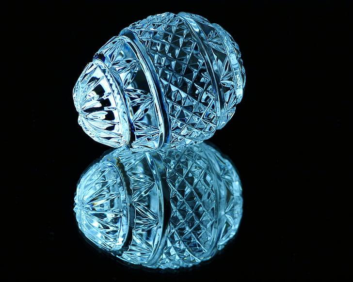 Kristal, yumurta, kesme cam, ayna görüntüsü, esaslarını, Blue Ice