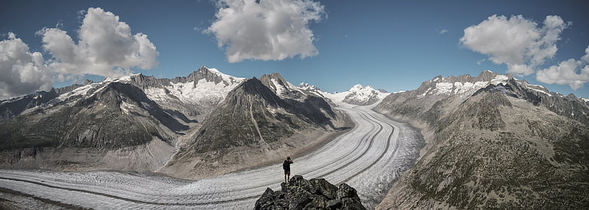 landscape, mountains, nature, outdoors, panoramic, person, rocky mountains