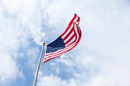 lá cờ, Vương, tiểu bang, chúng tôi, đám mây, Hoa Kỳ, bầu trời