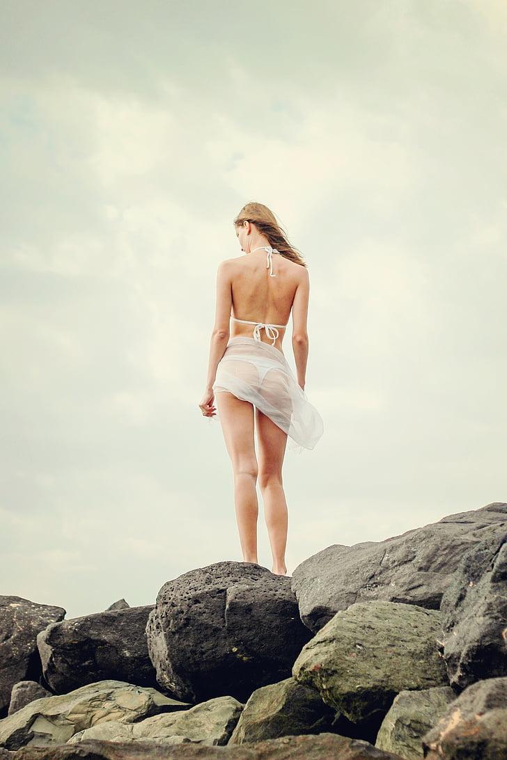 лято, Момиче, млада жена, празник, бикини, жена, екскурзия