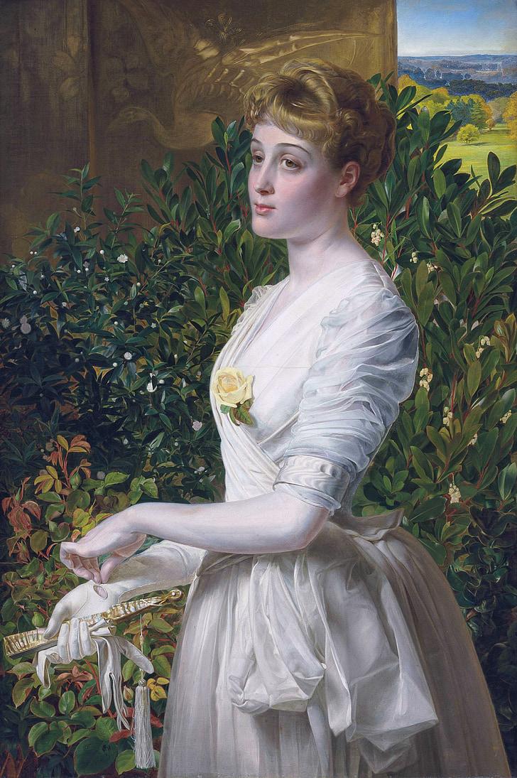 Фредерик sandys, изкуство, художествени, живопис, масло върху платно, артистичност, Портрет