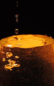 glas, drop, flydende, champagne, Hæld, farve, Cup