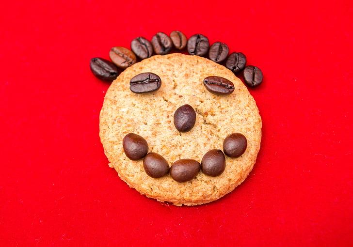 zâmbet, râs, cookie-uri, cafea, portret, bucuria, fericirea
