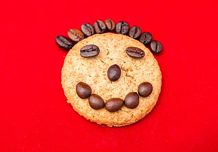 somriure, riure, galetes, cafè, Retrat, alegria, felicitat