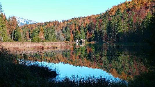 autumn, landscape, nature, water, lake, water reflection, autumn mood