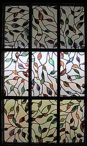 vetro macchiato, finestra, progettazione, modello, finestra di vetro macchiata, macchiato, interni