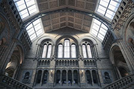 arcs, arquitectura, edifici, sostre, columnes, l'interior, Museu
