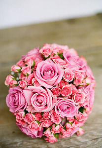 bridal, bouquet, bride, bridal bouquet, flower, rose, rose - Flower