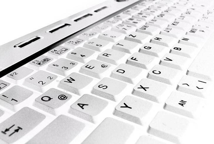 klávesnica, počítač, elektronika, laptop, listy, platiť, Počítačová klávesnica