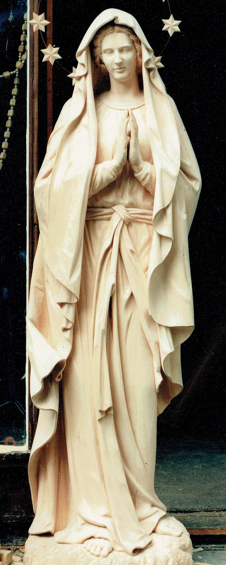거룩한 마리아, 마리아, 마돈나, 거룩한, 기독교, 그림, 성모 마리아